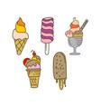 ice cream design flat template vector image vector image