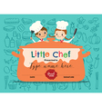 Kids Cooking class certificate design template vector image vector image