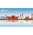 Lahore Skyline with Gray Red Landmarks vector image vector image