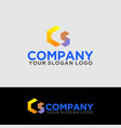 logo polygon letter c and s 01 vector image vector image