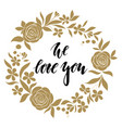 love sweet love - hand drawn calligraphy and vector image vector image