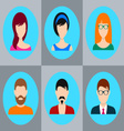men and women icons vector image vector image