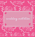 modern wedding invitation with rose pattern vector image vector image