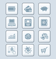 money matters icons - tech series vector image
