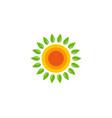 nature sun logo icon design vector image vector image