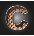 old metal letter c vector image vector image