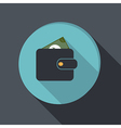 paper flat icon purse vector image vector image