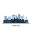 pretoria skyline monochrome silhouette vector image vector image