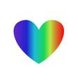 rainbow multicolored gradient heart icon clip art vector image