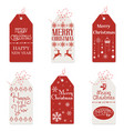 red and white tags vector image