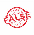 red false rubber stamp on white background vector image
