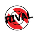 rival rubber stamp vector image vector image