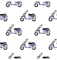 Seamless Blue Scooter Pattern vector image vector image