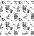 seamless pattern of christmas decorative symbol vector image