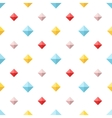 Seamless pattern with colorful flat diamonds vector image