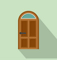security door icon flat style vector image