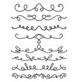 set hand drawn calligraphic elements for vector image vector image