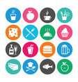 set of food and drinks icons restaurant signs vector image