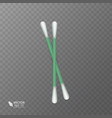 set of realistic cotton buds cotton swabs for vector image