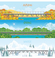 set three season horizontal vector image