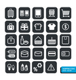 Shopping icons set design
