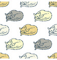 sleeping cats seamless pattern vector image