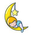 sleeping girl icon cartoon style vector image vector image