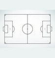 soccer field line style vector image vector image