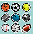 Sport Ball Icons vector image