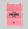 Three times folded poster vector image vector image