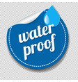 water proof sticker isolated transparent vector image vector image