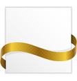 winner note with golden ribbon vector image vector image