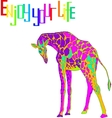 with the image of giraffe vector image vector image