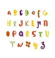 Funny hand drawn colorful alphabet vector image