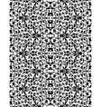 White lace pattern on black abstract seamless vector image