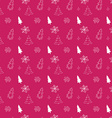 Christmas tree hand drawn doodle seamless pattern vector image