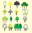 0108 Tree icon vector image vector image