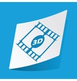 3D movie sticker vector image vector image