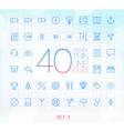 40 Trendy Thin Icons for web and mobile Set 3 vector image vector image