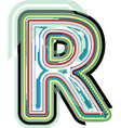 Abstract colorful Letter R vector image vector image