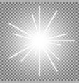 abstract laser beams with sparks white color vector image vector image