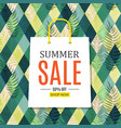 abstract summer sale background with shopping bag vector image vector image