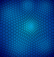 Abstract wavy net with hex cells vector image vector image