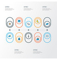 air colorful outline icons set collection of vector image vector image