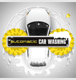 automatic car washing station vector image vector image