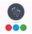 Baby footprints icon Child feet sign vector image vector image