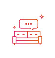 bed or sofa speech bubble icon gradient line vector image vector image
