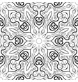 black and white mandala pattern monochrome vector image