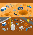 building site banners set vector image vector image