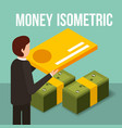 businessman holding credit card and banknotes vector image